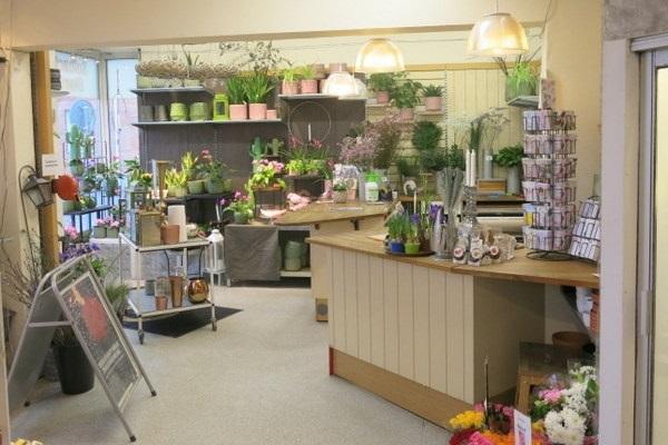 blomsterbutik till salu